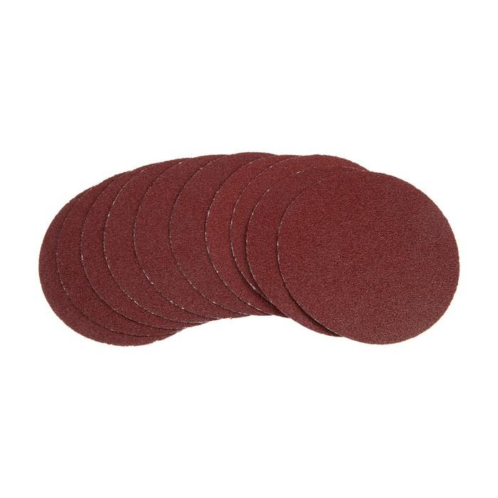 Круг абразивный шлифовальный под липучку TUNDRA, 115 мм, Р60, 10 шт.