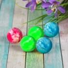 Мяч каучуковый, пестрый, цвета МИКС