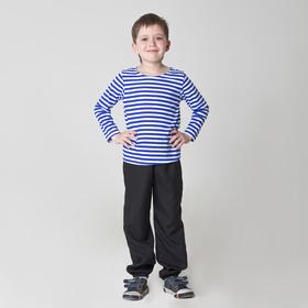 Карнавальная тельняшка-фуфайка военного, детская, р. 30, рост 116 см Ош