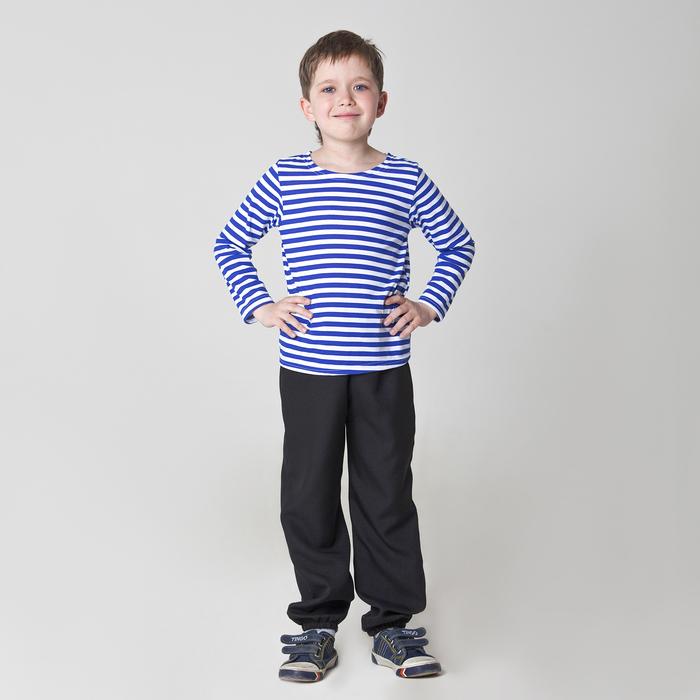 Карнавальная тельняшка-фуфайка военного, детская, р. 36, рост 140 см