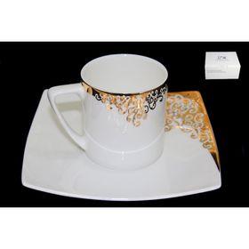 Чашка с блюдцем «Золотой орнамент», в подарочной упаковке Ош