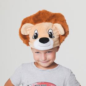 Карнавальная шапка 'Лев' обхват головы 52-57см Ош