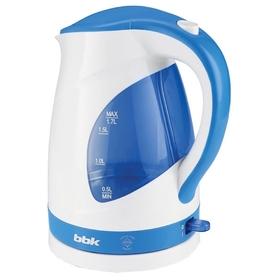 Чайник электрический BBK EK1700P, пластик, 1.7 л, 2200 Вт, подсветка, бело-голубой