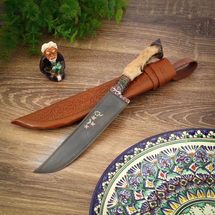 Пчак Шархон, рукоять-лапка, гарда с гравировкой