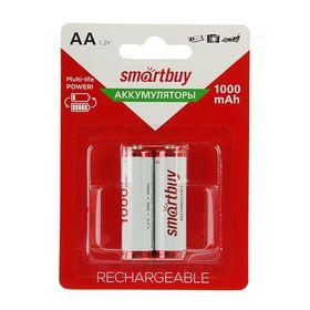 Аккумулятор Smartbuy, Ni-Mh, AA, HR6-2BL, 1.2В, 1000 мАч, блистер, 2 шт. Ош