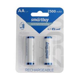 Аккумулятор Smartbuy, Ni-Mh, AA, HR6-2BL, 1.2В, 2500 мАч, блистер, 2 шт. Ош