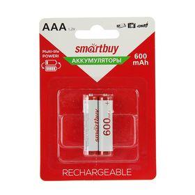 Аккумулятор Smartbuy, Ni-Mh, AAA, HR03-2BL, 1.2В, 600 мАч, блистер, 2 шт. Ош