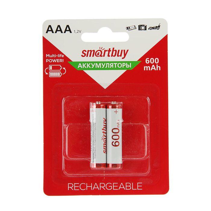 Аккумулятор Smartbuy, Ni-Mh, AAA, HR03-2BL, 1.2В, 600 мАч, блистер, 2 шт.