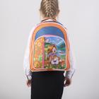 Рюкзак школьный, отдел на молнии, 2 наружных кармана, цвет оранжевый