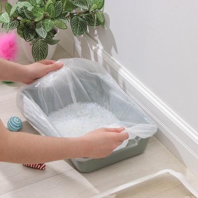 Мешки для кошачьих лотков, 45×30×29,5 см, 15 мкм, ПНД, 10 шт - Фото 1