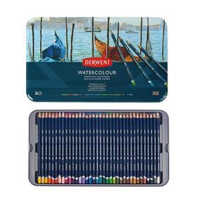 Карандаши художественные акварельные Derwent WaterColour, 36 цветов, в металлической коробке