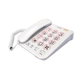 Телефон Texet TX 262, проводной, регулятор громкости звонка, большие кнопки, светло-серый Ош