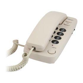 Телефон Ritmix RT-100, проводной, регулятор уровня громкости, слоновая кость Ош