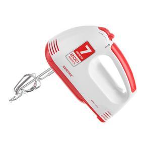 Миксер Centek CT-1111, ручной, 200 Вт, 7 скоростей, бело-красный Ош