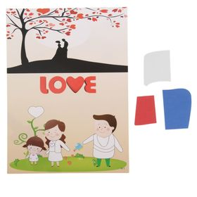 Аппликация - открытка 3D «Love», из ЕVA Ош