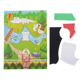 Аппликация - открытка 3D «Зоопарк», из ЕVA Ош