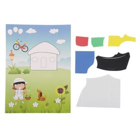 Аппликация - открытка 3D «Домик на полянке», из ЕVA Ош