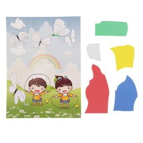 Аппликация - открытка 3D «Детки на полянке», из ЕVA Ош