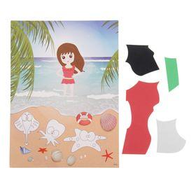 Аппликация - открытка 3D «Морской берег», из ЕVA Ош