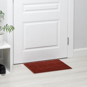 Покрытие ковровое щетинистое без основы «Травка», 40×53 см, цвет терракотовый Ош