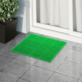 Покрытие ковровое щетинистое без основы «Травка», 40×53 см, цвет зелёный Ош