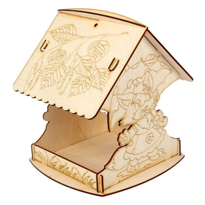 Кормушка для птиц «Лисичка с зонтиком», 24 × 24 × 27 см, разборная