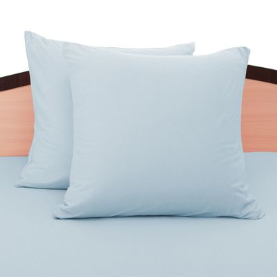 Наволочки трикотажные на молнии, 50х70 - 2шт, цвет голубой, 125 гр/м2
