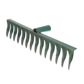Грабли прямые, повёрнутый зубец, 14 зубцов, металл, тулейка 28 мм, без черенка Ош