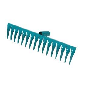Грабли прямые, повёрнутый зубец, 16 зубцов, металл, тулейка 28 см, без черенка, цвет МИКС Ош