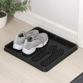 Лоток для обуви Darel plastic, 43×39 см, цвет чёрный Ош
