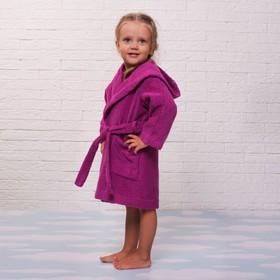 Халат махровый детский, размер 30, цвет розовый, 340 г/м2 хл.100% с AIRO Ош