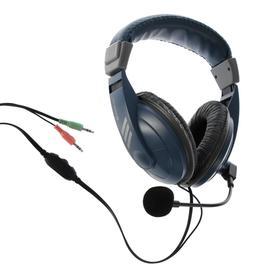 Наушники Defender Gryphon HN-750, компьютерные, микрофон, 105 дБ, 32 Ом, 3.5 мм, 2 м, синие Ош
