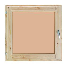 Окно, 60×60см, двойное стекло, тонированное, из хвои Ош