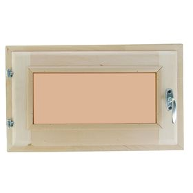 Окно, 30×50см, двойное стекло, тонированное, из липы Ош
