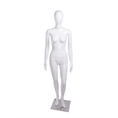 Манекен женский, безликий, обхват 84*60*90, H=178 см, на подставке, белый глянец