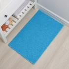Коврик Доляна «Букли», 50×80 см, цвет голубой - Фото 1