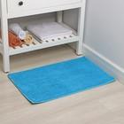 Коврик Доляна «Букли», 50×80 см, цвет голубой - Фото 2
