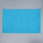 Коврик Доляна «Букли», 50×80 см, цвет голубой - Фото 3