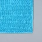 Коврик Доляна «Букли», 50×80 см, цвет голубой - Фото 4