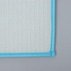 Коврик Доляна «Букли», 50×80 см, цвет голубой - Фото 5