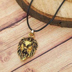 Кулон мужской 'Лев', цвет чернёное золото, 40 см Ош