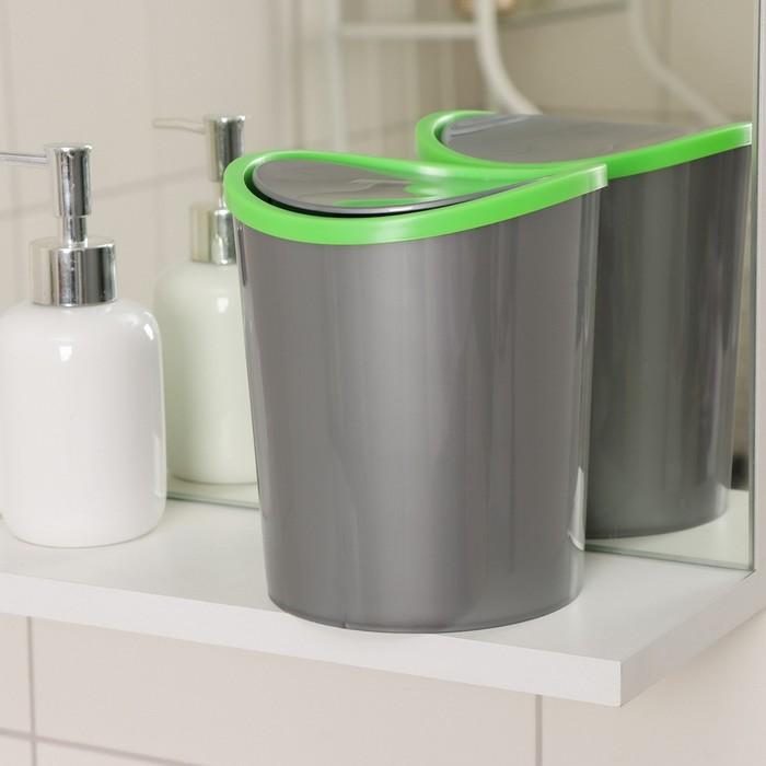 Контейнер для мусора настольный IDEA, 1,6 л, цвет МИКС