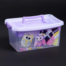Контейнер для хранения с крышкой и вкладышем IDEA «Рукоделие», 4 л, 30×20×13 см, цвет лиловый
