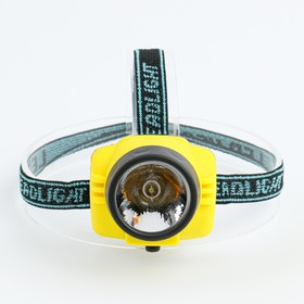 Фонарь налобный, 1 LED, 1 режим,  3 АА, микс, 7х7 см Ош