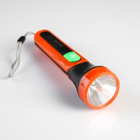 Фонарь ручной, 1 LED, ребристые бока, 2 АА, микс, 16х4.5х4.5 см Ош