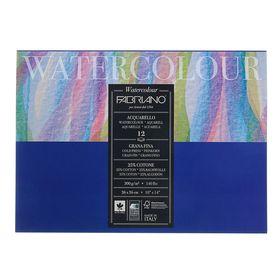 Альбом для Акварели, хлопок 25%, 260 х 360 мм, В4, Fabriano Watercolour, 12 листов, 300 г/м², склейка, Grain Fin (среднее зерно)