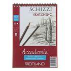 Блокнот для рисунков А5, 50 листов на гребне Fabriano Аccademia sketching, 120 г/м²