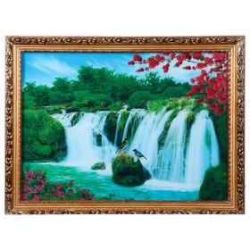 Световая картина 'Дикая природа' со звуком пения птиц и водопада Ош