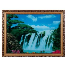 Световая картина 'Большой водопад' со звуком пения птиц и водопада Ош