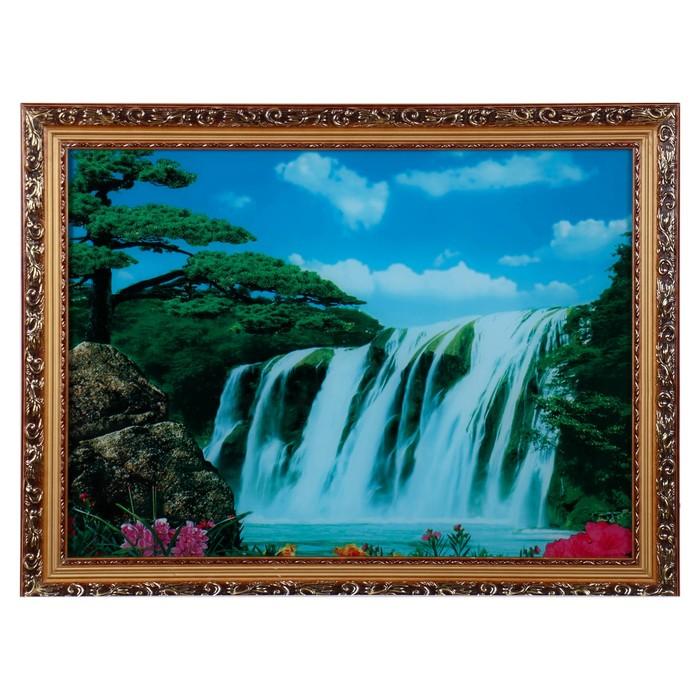 Световая картина Большой водопад 6050 см